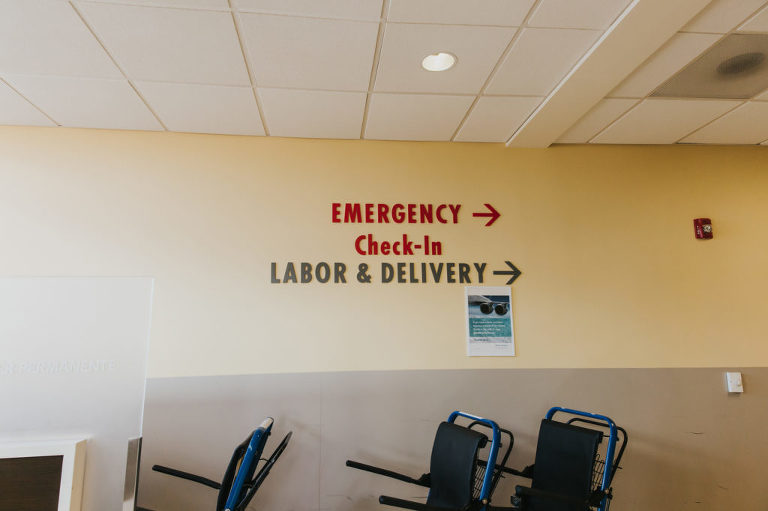 Entering labor and delivery at Kaiser Westside in Hillsboro, Oregon.